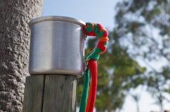 Tasse en aluminium de festival d'été Photos stock