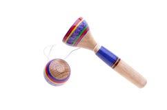 Tasse en bois de Crochet-UN-boule d'isolement Photo stock