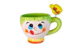 Tasse en céramique de couleur Images stock