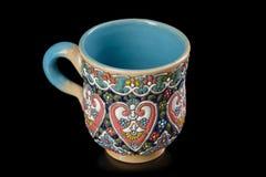 Tasse en céramique iranienne avec le modèle images stock