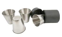 Tasse en métal Photographie stock