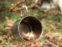 Tasse en métal Photographie stock libre de droits