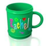 Tasse en plastique personnalisée par vert Images stock
