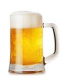 Tasse en verre avec de la bière Image libre de droits