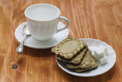 Tasse et biscuits Image stock