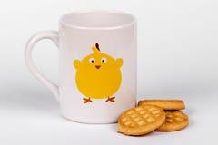 Tasse et biscuits de la Chine Photographie stock