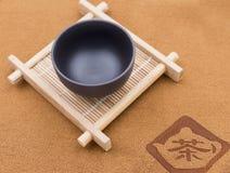 Tasse et caboteurs de thé de la Chine Photos libres de droits