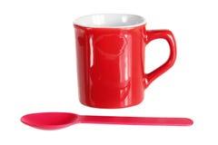 Tasse et cuillère Images stock