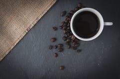 Tasse et haricots de café Photographie stock
