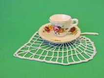 Tasse et plat de vintage Photos libres de droits