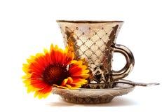 Tasse et soucoupe de café Photos libres de droits