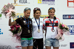 Tasse européenne de sprint de triathlon d'UIT de Crémone Photos libres de droits