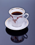 Tasse Kaffee auf dem Hintergrund Stockfoto