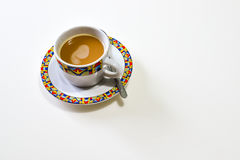 Tasse Kaffee auf dem weißen Hintergrund Lizenzfreie Stockbilder