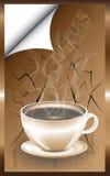 Tasse Kaffee auf der Straße Stockfotos