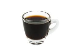 Tasse Kaffee auf einem weißen Hintergrund (getrennt mit Pfad) Stockbilder