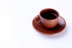Tasse Kaffee auf weißem Hintergrund Lizenzfreies Stockfoto