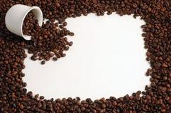Tasse Kaffee-Bohnen stockbild