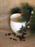 Tasse Kaffee des Weihnachten (neues Jahr) Stockfotografie