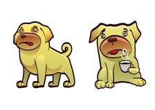 Tasse Kaffee für einen Hund lizenzfreie abbildung