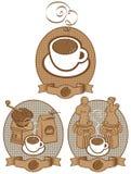 Tasse Kaffee für zwei Geliebte Lizenzfreie Abbildung