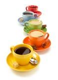 Tasse Kaffee getrennt auf Weiß lizenzfreie stockfotos