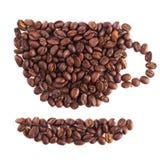 Tasse Kaffee hergestellt von den Bohnen Lizenzfreies Stockbild