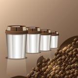 Tasse Kaffee-Hintergrundmenü Lizenzfreie Stockfotografie
