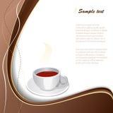 Tasse Kaffee mit abstraktem Hintergrund. Stockbild