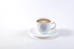 Tasse Kaffee mit Bohne Stockfoto