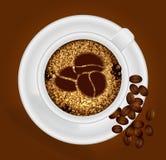 Tasse Kaffee mit dem Zeichen Stockbilder