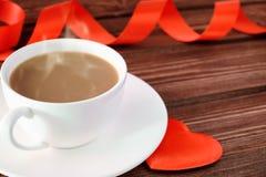 Tasse Kaffee mit einem Inneren Lizenzfreies Stockbild