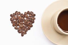 Tasse Kaffee mit Innerem Lizenzfreie Stockbilder