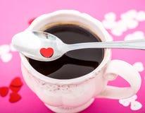 Tasse Kaffee mit Innerem Stockfotos