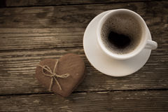 Tasse Kaffee mit Keksplätzchen Lizenzfreies Stockbild