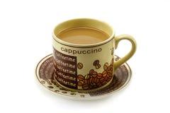 Tasse Kaffee mit Milch Stockbild