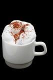 Tasse Kaffee mit Sahne Stockfoto