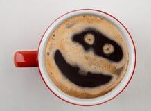 Tasse Kaffee schoss von oben Stockfotografie