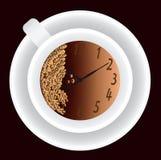 Tasse Kaffee und Vorwahlknopf stock abbildung