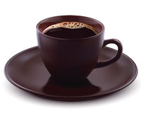 Tasse Kaffee. Vektorillustration Stockfoto