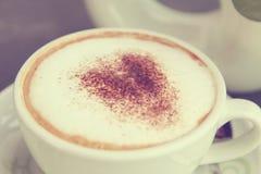 Tasse Kaffee - Weinlese Lizenzfreie Stockfotos