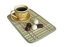 Tasse Kaffee wird sie getrennt Lizenzfreie Stockfotos