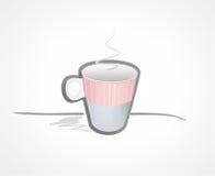 Tasse Kaffeeabbildung Lizenzfreie Stockfotografie