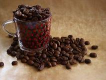 Tasse Kaffeebohnen Stockbilder