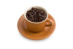 Tasse Kaffeebohnen Lizenzfreies Stockfoto