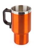 Tasse orange de thermos Images stock