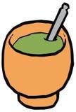 Tasse pour le compagnon - la courge et le bombilla dirigent le dessin illustration de vecteur