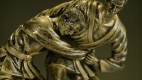 Tasse pour une victoire dans le championnat de judo Tasse pour l'accomplissement sportif Le trophée représente deux personnes dan banque de vidéos