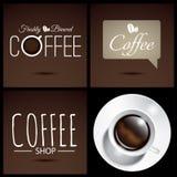 Tasse réaliste d'affiche de café Photographie stock