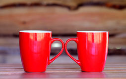 Tasse rouge Images stock